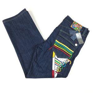 COOGI Retro Hip Hop Embroidered Jeans 38x33.5